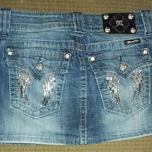 Super cute Miss me blue Jean mini skirt